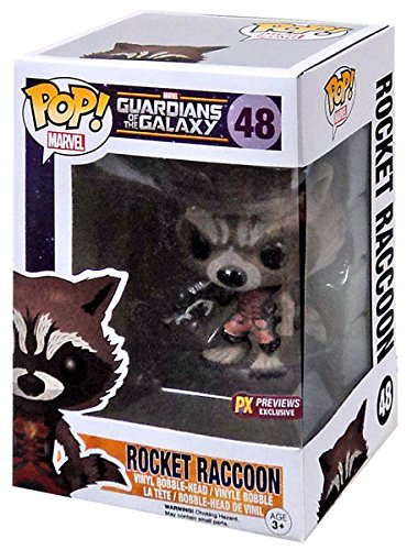 Funko Pop! Guardians of the Galaxy #48 Rocket Raccoon (Flocked) Ravagers Edition Exclusive
