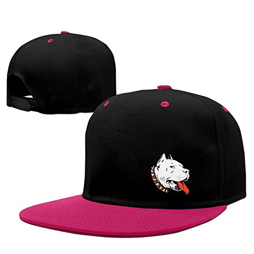 Texhood Pit Bull Head Cool Snapback One Size Pink