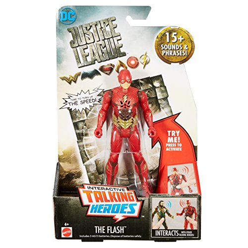 DC Justice League Talking Heroes The Flash Figure, 6""