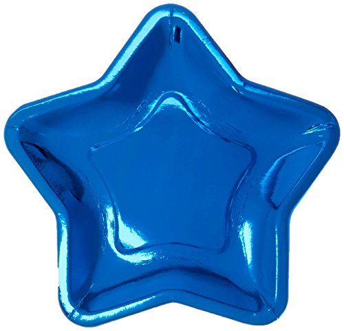 Star Shaped 9.6 Inch Foil Paper Party Plates, Set of 12 ()