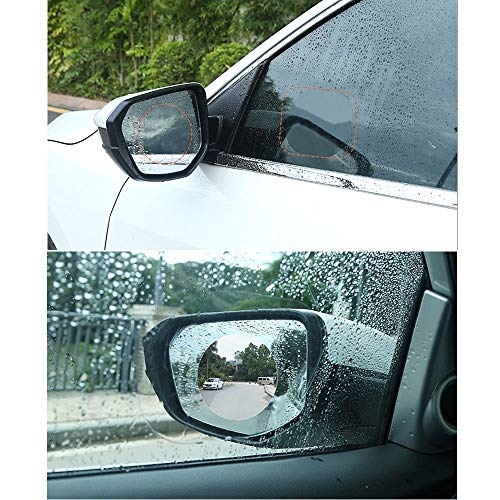 BENBW 1Set Car Rearview Mirror Protective Film Anti-Fog Protective Film Anti-Glare Anti-Scratch Rainproof (with Scraper and Alcohol pad) by BENBW (Image #8)