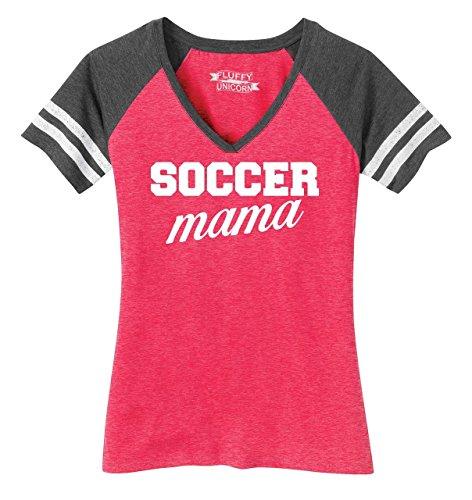 Comical Shirt Ladies Soccer Mama Game V-Neck Tee