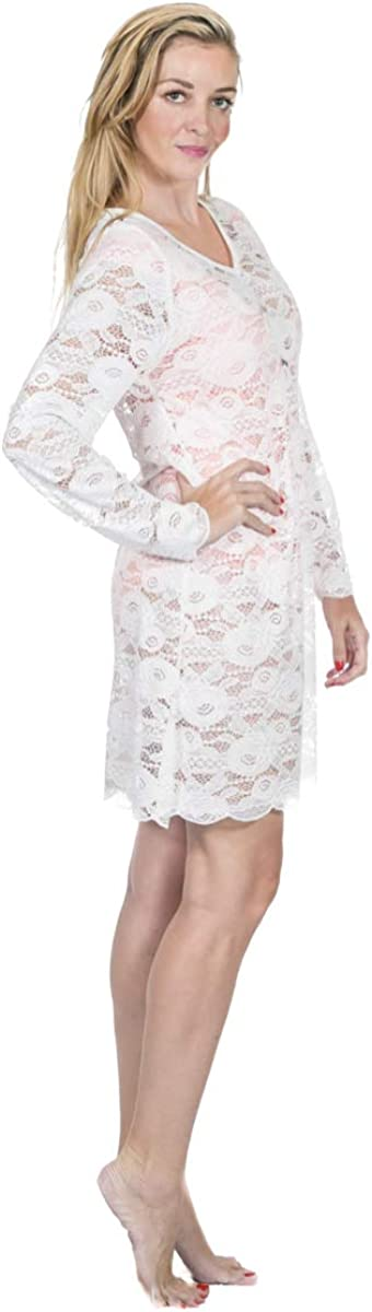 Dandelion Playa Long Sleeve lace Bikini Swimsuit Cover up Summer Outfit