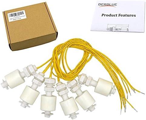 derblue Acuario con Cable Líquido Agua sensor de nivel interruptor de flotador