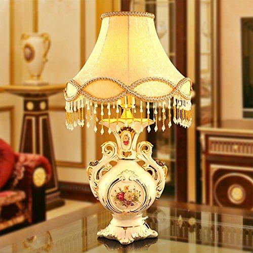 YFF@ILU luxuriöses Wohnzimmer Schlafzimmer Nachttischlampe Tischlampe retro dekorative Keramik Hochzeit Garten Tischleuchte