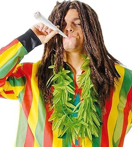 FIESTAS GUIRCA Collar de Hojas de Marihuana Verde para Disfraz de ...