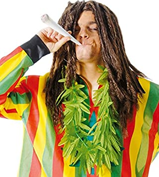 FIESTAS GUIRCA Collar de Hojas de Marihuana Verde para Disfraz de drogada.
