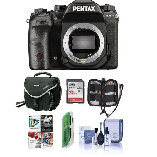 (Pentax K-1 Mark II DSLR Camera (Body Only) - Bundle with 32GB SDHC Card, Camera Case, Cleaning Kit, Memory Wallet, Card Reader, PC Software Package)