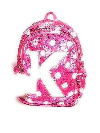 Amazon.com | Justice Girls Flip Sequin Backpack Initial (P