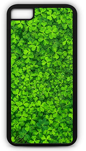 iPhone 8 Plus 8+ Case Clover Irish Spring Four Leaf Lucky Charm Customizable by TYD Designs in Black Plastic Black Rubber Tough Case