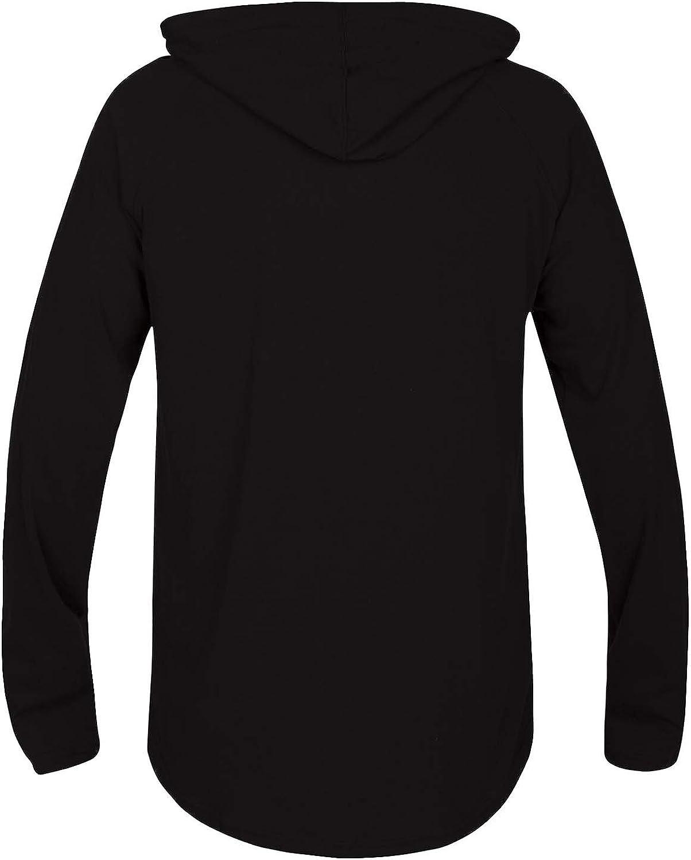 Hurley Mens Premium Long Sleeve Graphic Tshirt Hoodie