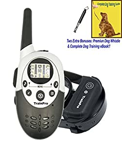 EveryPet TrainPro 3.0 Version 1100-Yard Range Electronic Rechargeable Waterproof Training Shock Collar for 1 Dog with Training eBook and Whistle