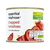 Chopped Tomatoes essential Waitrose 227g - Pack of 6
