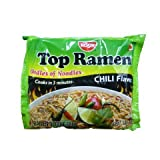 Nissin Top Ramen Instant Noodle Soup (Chili Flavor) - 3oz (Pack of 8)