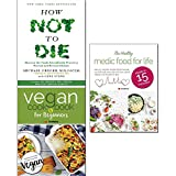 img - for how not to die,vegan cookbook for beginner and healthy medic food for life 3 books collection set - discover the foods scientifically proven to prevent and reverse disease book / textbook / text book