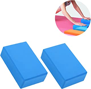 VORCOOL 2 pz Yoga Pilates Eva Foam Block Mattoni Esercizio Sport Fitness Gym Workout Stretching Aid (Colore Casuale)