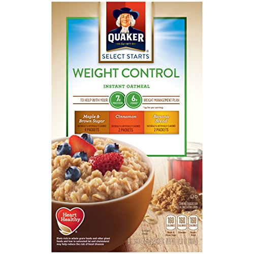 Quaker Instant Oatmeal Weight Control, Variety Pack, 1.58 Oz, 8 Count (Pack of 4)