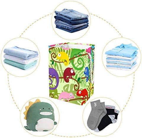 Tizorax Panier à linge pliable avec poignées pour chambre à coucher, salle de bain, dortoir