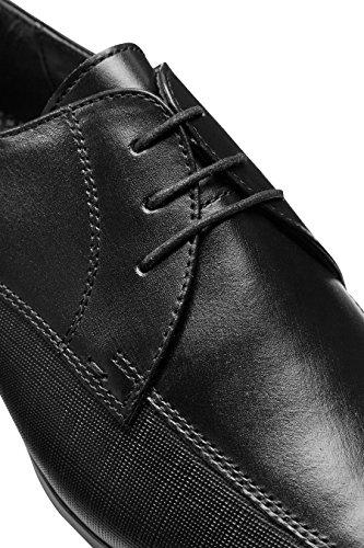 next Herren Leder Schnürschuhe Einsatz Details Normale Passform Schuhe Schwarz