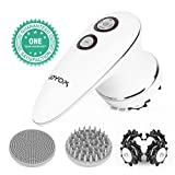 Facial Muscles Headache - VOYOR Face Brush Handheld Facial Massager Facial Cleansing Brush, 3-In-1 Electric Micro-Firming Massager for Body, Hand, Arm, Neck and Foot, Silicone Skin Cleansing Brush, Cordless & Waterproof VRMM1
