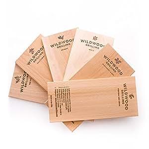 Amazon.com: Juego de tablas de madera para parrilla, incluye ...