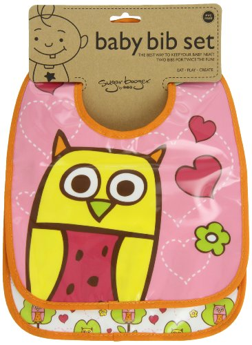 Sugarbooger Mini Bib Gift Set, Hoot, 2 - Ore Inc Originals