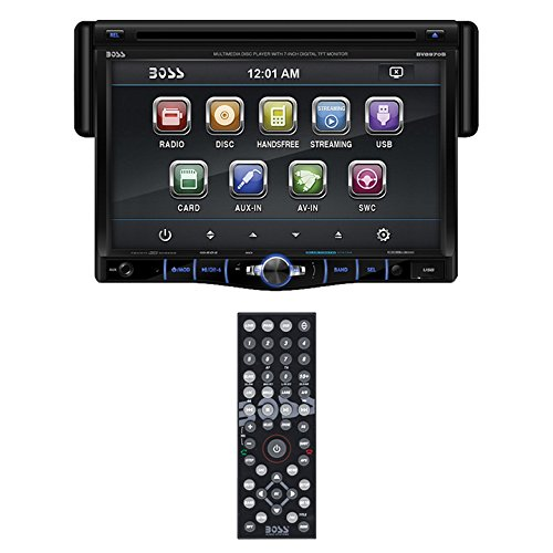 BOSS AUDIO BV8970B Single-DIN 7 inch Touchscreen DVD Player