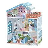 CubicFun Dollhouse Kits with Furniture,Kids House 3D Puzzle Toys 112 Piece,Seaside Villa P683h
