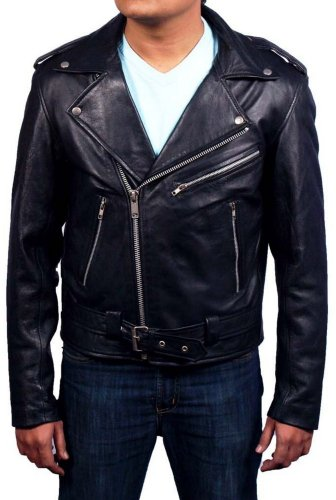 MSHC Men's Ghost Rider Faux Leather Jacket 4XL Black for $<!--$95.00-->
