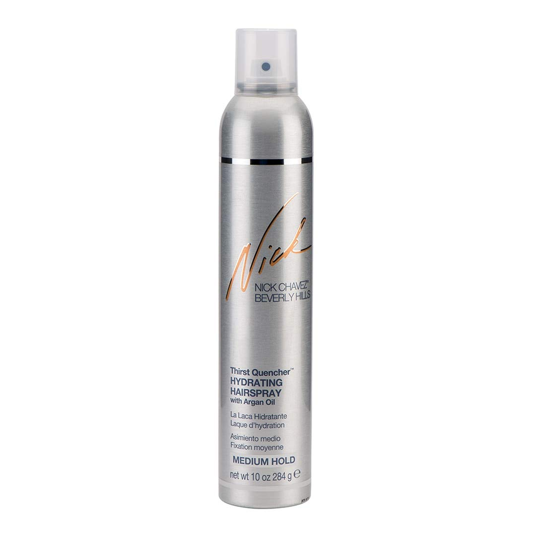 Nick Chavez Beverly Hills Thirst Quencher Hydrating Spray with Argan Oil - Medium Hold Hairspray Hair Care - 10oz