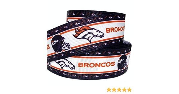 5 Yards of Denver Broncos Grosgrain Ribbon-7//8 inch