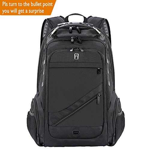 Laptop Backpack, Sosoon Business Anti-Theft Laptop Backpack with USB Charging Port, Water Resistant Large Compartment College School Computer Bag for Men and Women for 15.6 Inch Laptop and - Laptop Bag Notebook