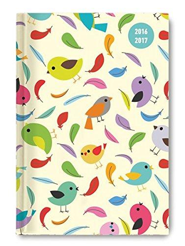 Collegetimer Birds 2016/2017 - Schülerkalender A5 - Day By Day - 352 Seiten