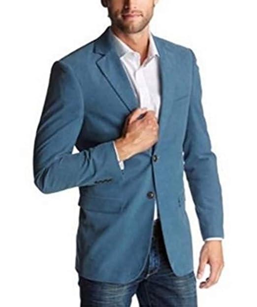 Chaqueta de traje de hombre de clase - algodón, azul claro ...