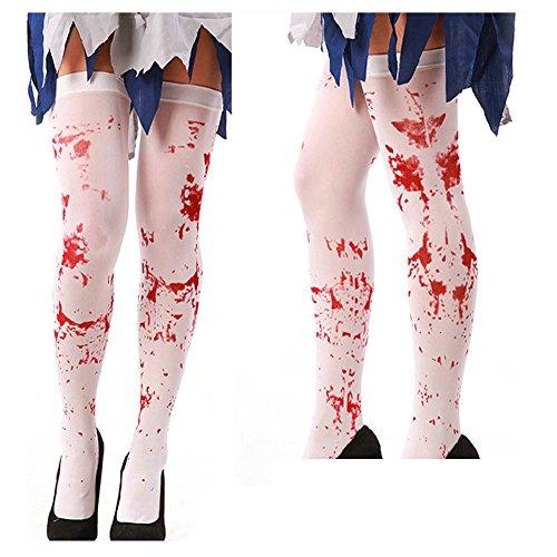 Halloween Dance Party Cosplay Hosiery Bloody Stockings Creepy Nurse Cos