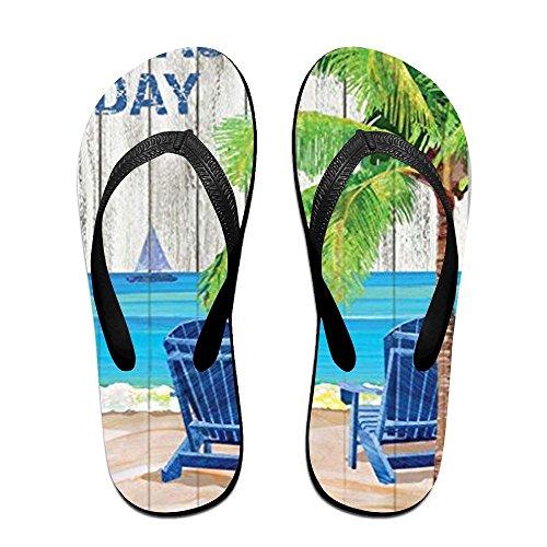 Day PTJHKET for Flops Women Slippers Beach Black Men Kids Flip CBqx7O
