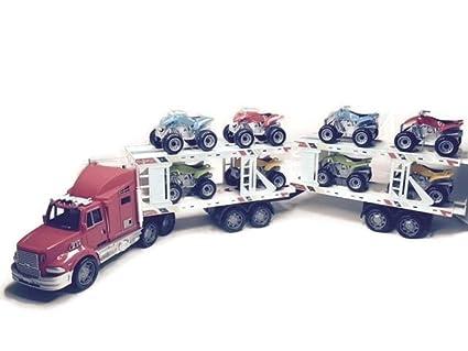 Toys For Boys To Color : Buy super trailer hauler trucks kids boys children friction toys w 8