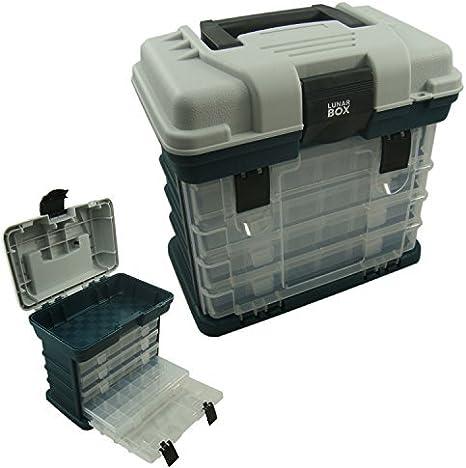 Lunar Box IG20333 Estuche 4 Compartimentos Ajustables Cajas de ...