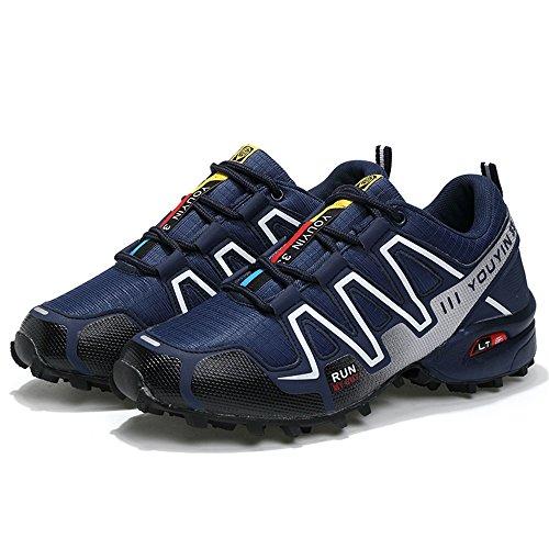 Ocio Cordones Azul y Color atlético Deportivos Zapatos con Calzado Azul con Oscuro Oscuro Cordones tamaño para shoes Xiaojuan EU de Hombres Casual 42 Plano qAnwZxCPBO