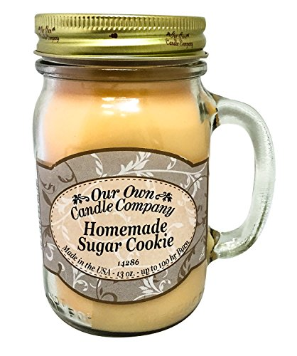 e Scented 13 oz Mason Jar Candle - Made in the USA by Our Own Candle Company (Sugar Cookie Soy Candle)