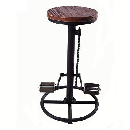 Surprising Amazon Com Ch Air Industrial Rustic Bike Bar Stool Metal Evergreenethics Interior Chair Design Evergreenethicsorg