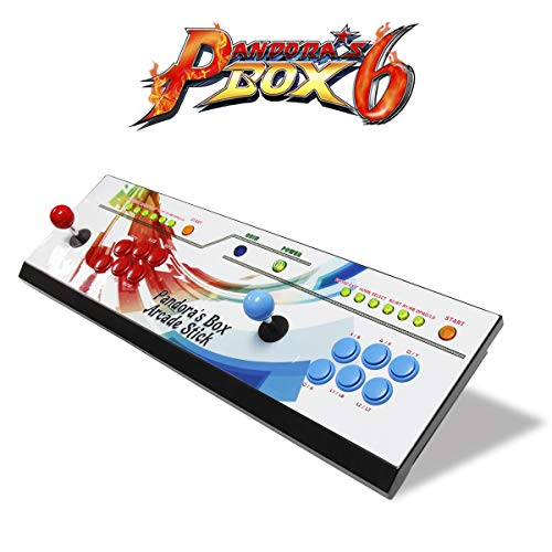 Wisamic Real Pandora's Box 6 Arcade Game Console - Add Additional Games, Support 3D Games, with Full HD, Games Classification, Upgraded CPU, Support PS3 PC TV 2 Players, No Games Included (6 Buttons) by Wisamic (Image #4)