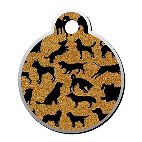 XInhaoLEI A Bunch Of Dogs Dog Tags Cat Tags Personalized Double Sided Stainless Steel Round Pet ID Tag