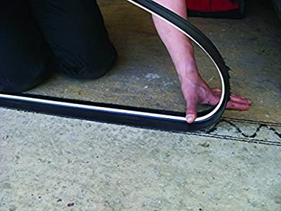 Heavy Duty Garage Door Floor Seal Kit - 8Foot / 2.5M Black Rubber & Adhesive