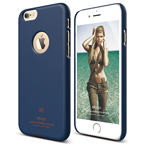 Price comparison product image iPhone 6S Case, elago [Slim Fit][Soft Feel Jean Indigo] - [Light][Minimalistic][True Fit] – for iPhone 6/6S