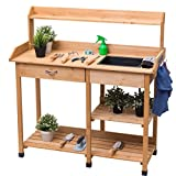 Outdoor Potting Bench Lawn Patio Table Storage Shelf Outdoor Garden