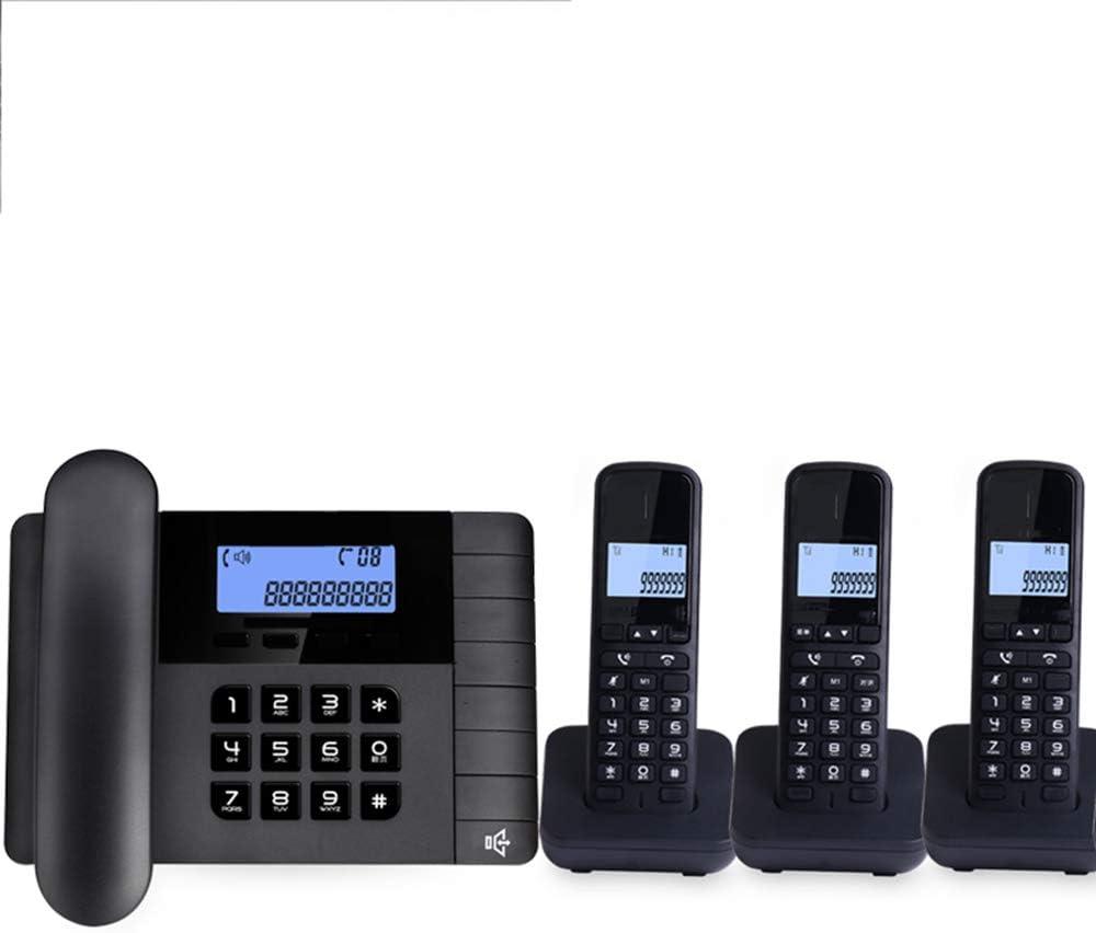 Teléfono Inalámbrico Digital,expansibles (uno para Uno,Dos para Dos),selección De Tono De Llamada,expansión De Cuatro Auriculares,Llamadas Manos Libres (Negro/Blanco): Amazon.es: Hogar