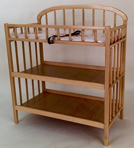 [Angel Line Classic Changer, Oak] (Cherry Finish Changing Table)