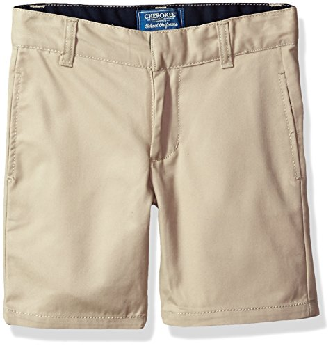 Khaki Four (Cherokee Little Boys' Uniform Twill Short, Khaki, 4)