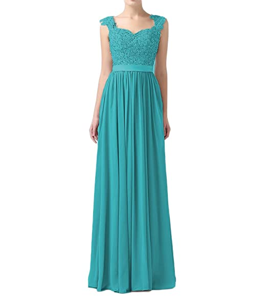 Leader of the Beauty Women Sleeveless Prom Dresses with Sash Wedding Party Gown Green UK 6